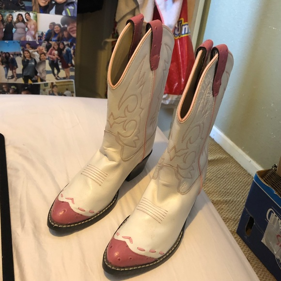 Pink White Cowboy Boots | Poshmark